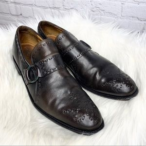 The Frye Company Leather Stitched Design Loafers